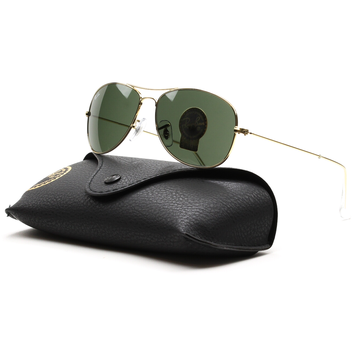 Ray Ban Cockpit Aviator Sunglasses RB 3362 001 Gold, Grey G15 Lens 56 mm. main image