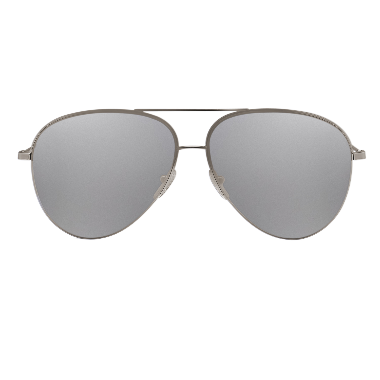 aviator sunglasses silver  Victoria Beckham VBS90 Aviator Sunglasses Silver Frame Platinum ...