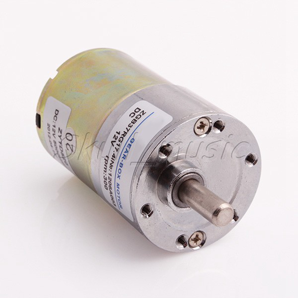High-Torque-12V-DC-300-RPM-Gear-Box-Electric-Motor-Replacement-New