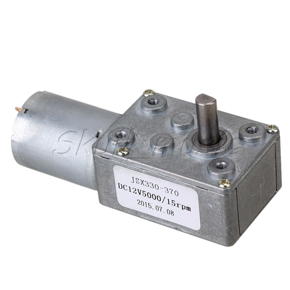 12v 15rpm worm turbo gear motor right angle gear dc motor for Right angle dc motor