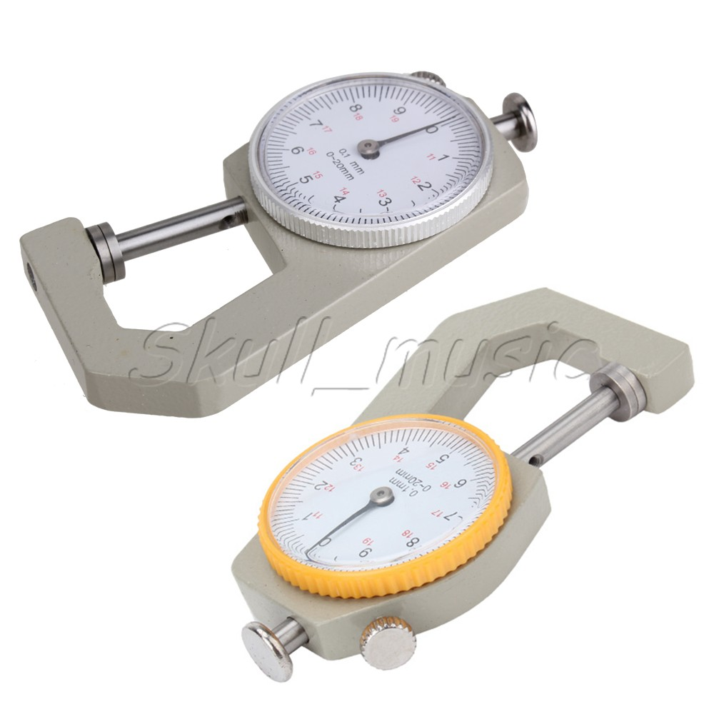 Sheet-Metal-Leather-0-to-20mm-Dial-Thickness-Gauge-0-1mm-Precision