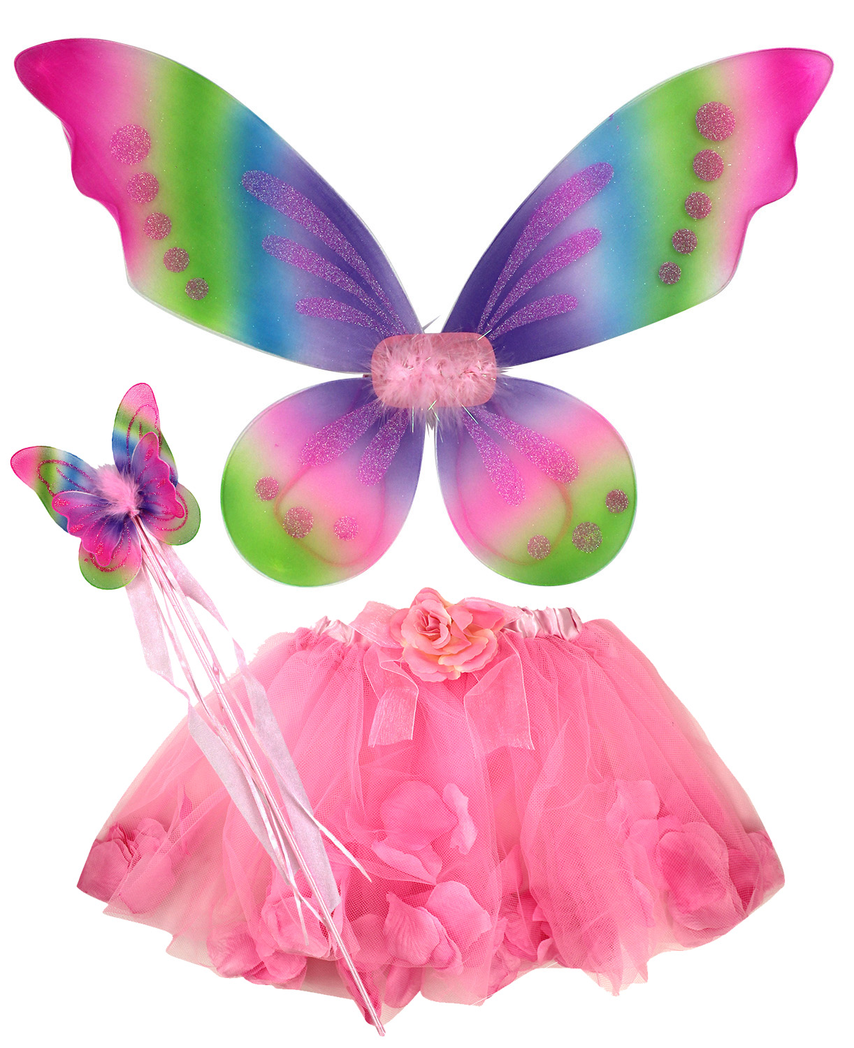 fairy butterfly tinker bell pixie costume tutu skirt wings wand