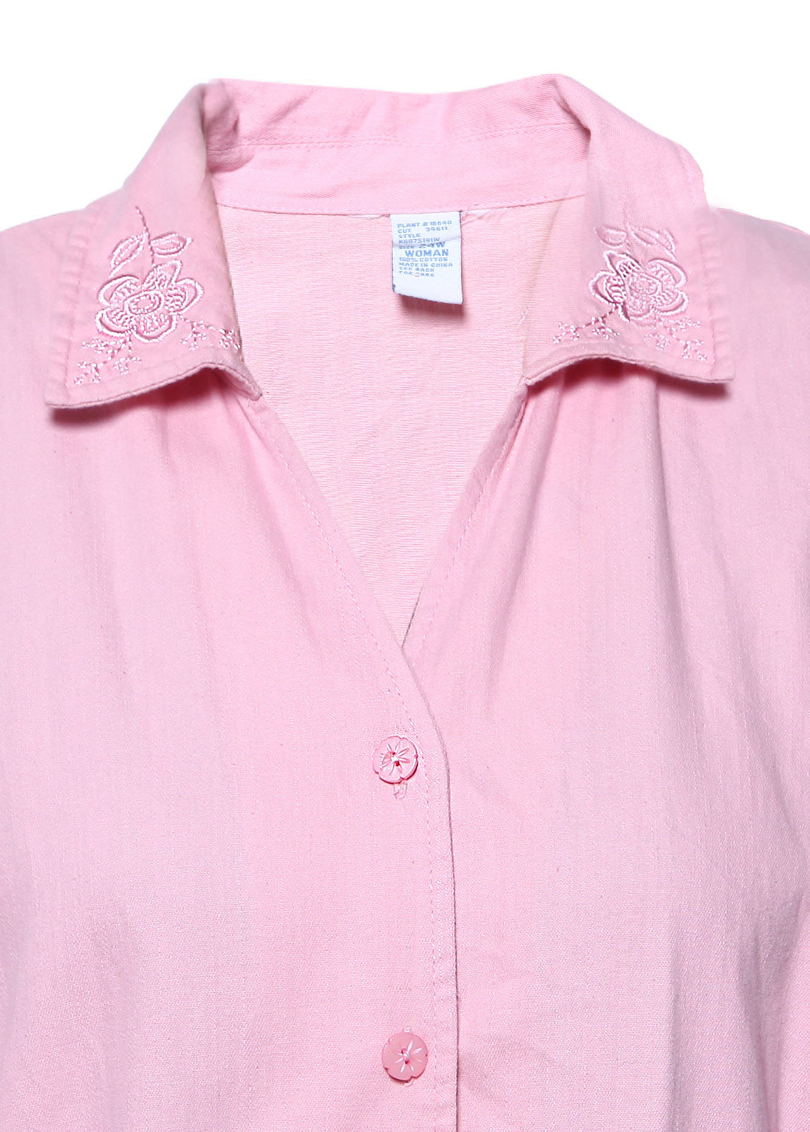 Cotton Women Short Sleeve Shirts Blouse Button Tops Home