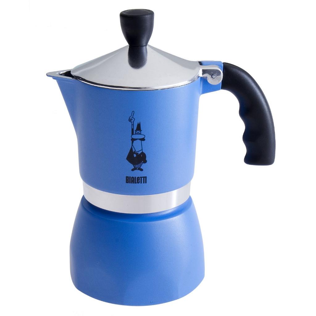Bialetti Fiammetta 3 Cup Stovetop Espresso Coffee Maker in Blue eBay