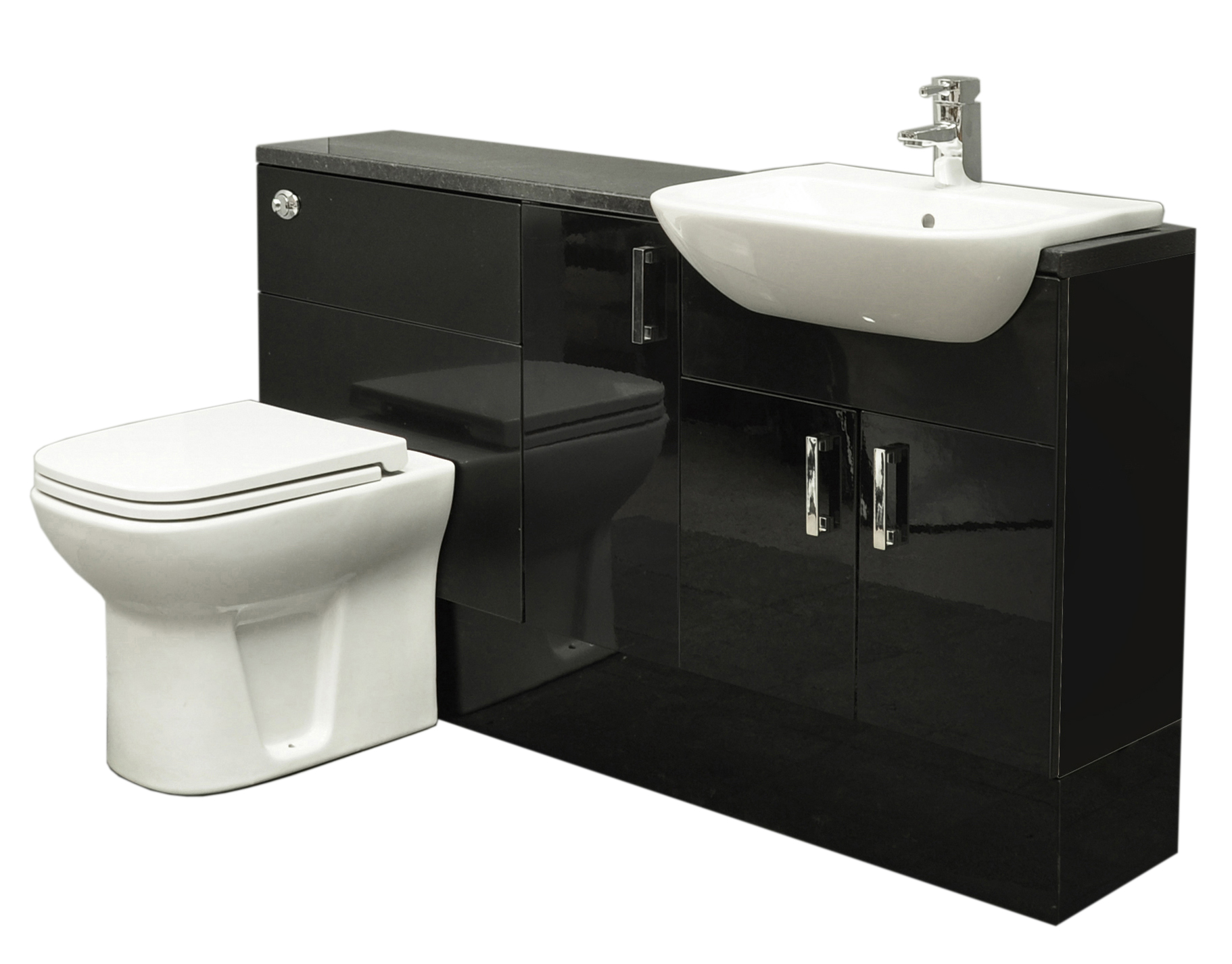 Toilet Sink Price : ... -Gloss-Fitted-Bathroom-Furniture-1300mm-Basin-Sink-Toilet-Chrome-Tap