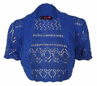 Ladies-Bolero-Shrug-Crochet-Knitted-Womens-Cardigan-Top-One-Size