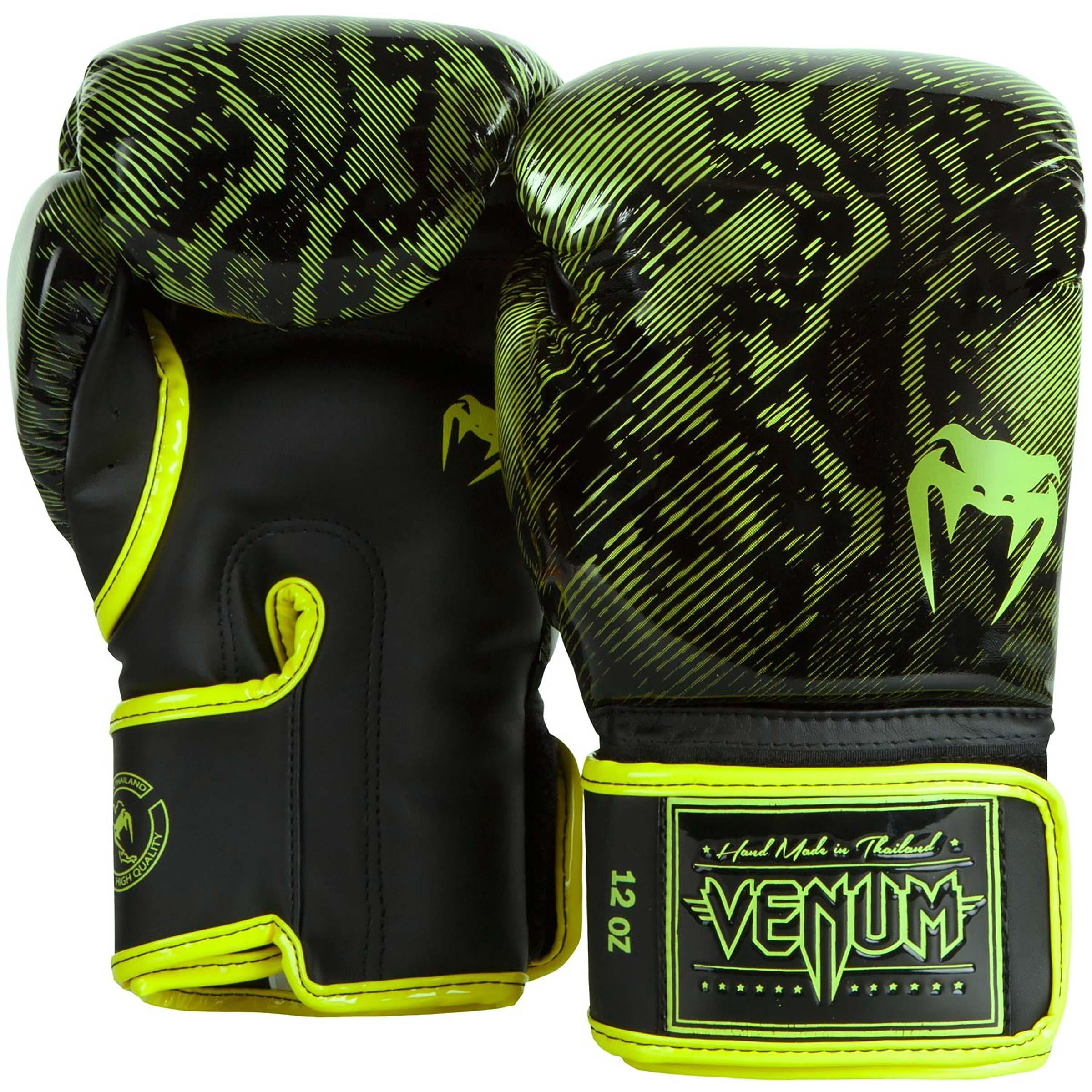 Venum Fusion Boxing Gloves Martial Arts Muay Thai MMA Neo Yellow