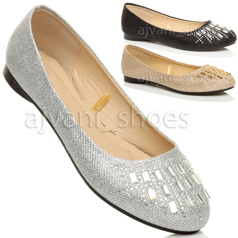 damen kleine absatz strass glitzer ballerina puppe schuhe hochzeit pumps gr e ebay. Black Bedroom Furniture Sets. Home Design Ideas