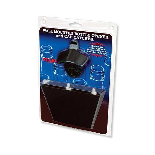 black starr x bottle opener medium black metal cap catcher set. Black Bedroom Furniture Sets. Home Design Ideas