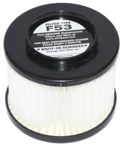 Dirt Devil Style F53 HEPA Filter Pleated Cartridge Assembly for Dynamite Cyclonic UD20000 Bagless Uprights, Part 3043070 at Sears.com