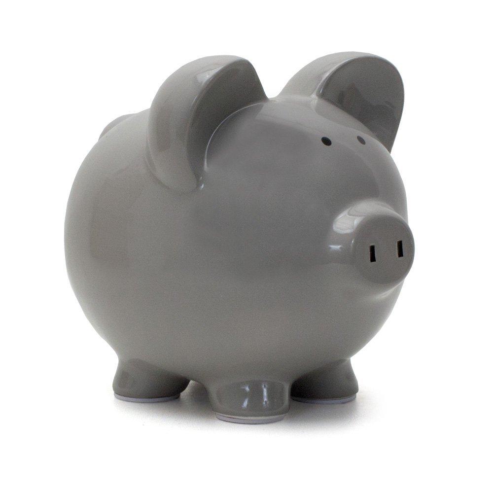 Child To Cherish Gray Piggy Bank