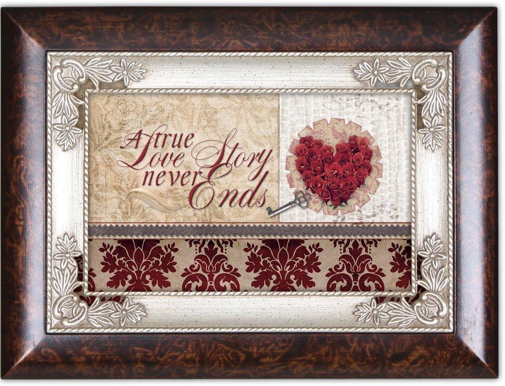 a true love story heart burlwood cottage garden traditional music box. Black Bedroom Furniture Sets. Home Design Ideas
