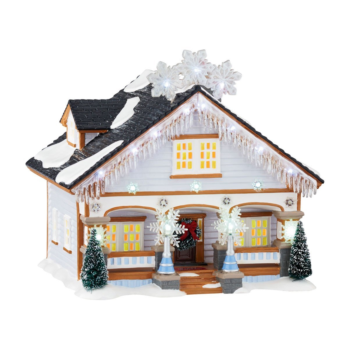department 56 original snow village the snowflake house ebay. Black Bedroom Furniture Sets. Home Design Ideas