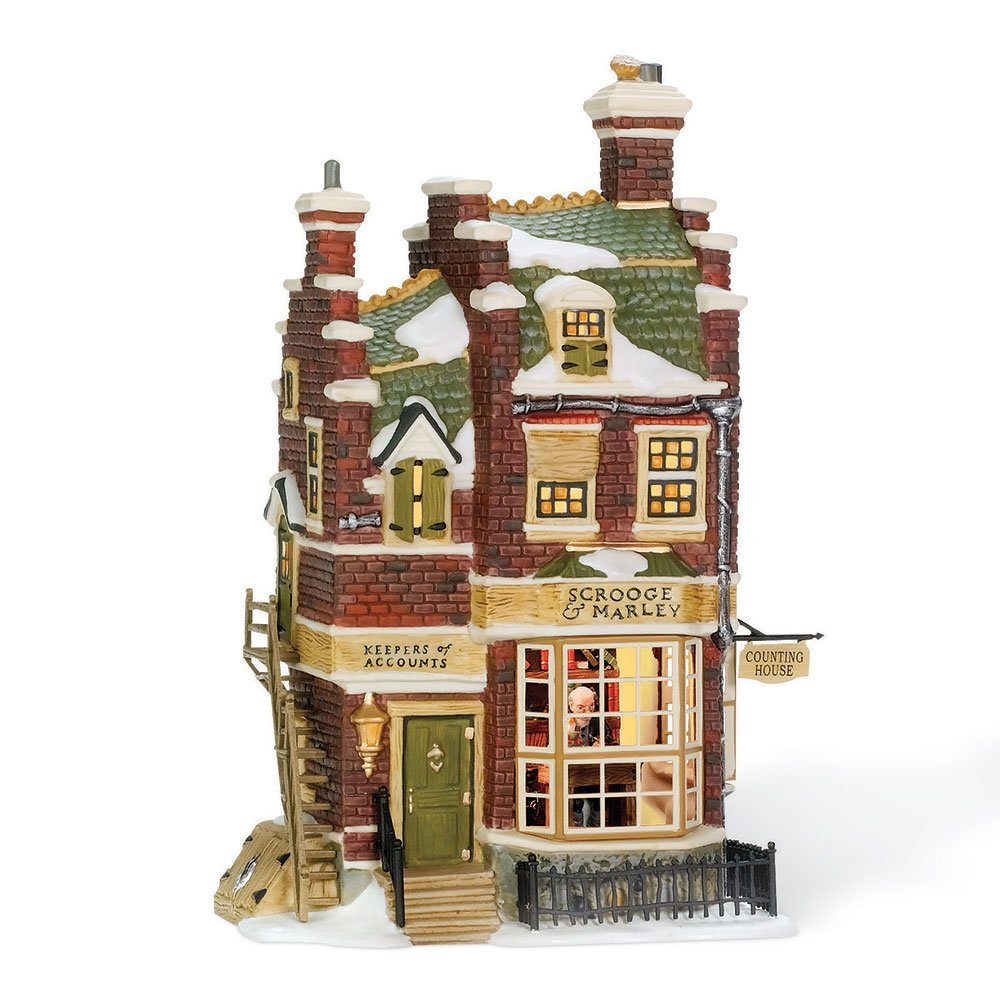 department 56 dickens village scrooge marley counting house ebay. Black Bedroom Furniture Sets. Home Design Ideas
