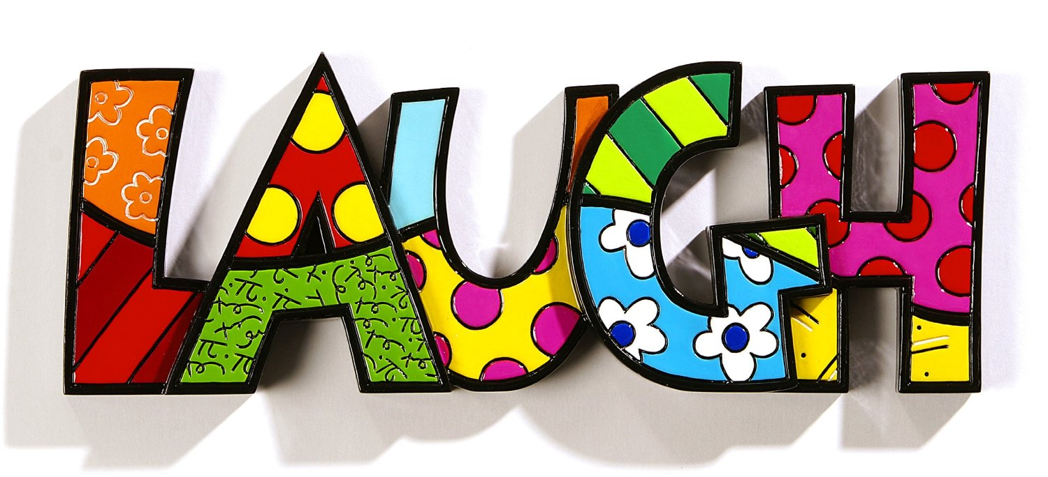 Romero Britto Word Decor LAUGH by Giftcraft | eBay