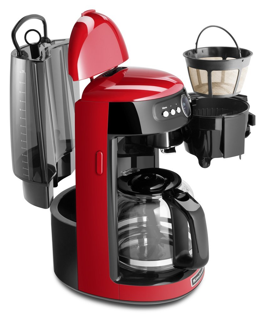 Kitchenaid Coffee Maker Not Hot Enough : KitchenAid KCM1402ER 14-Cup Glass Carafe Coffee Maker, Empire Red eBay