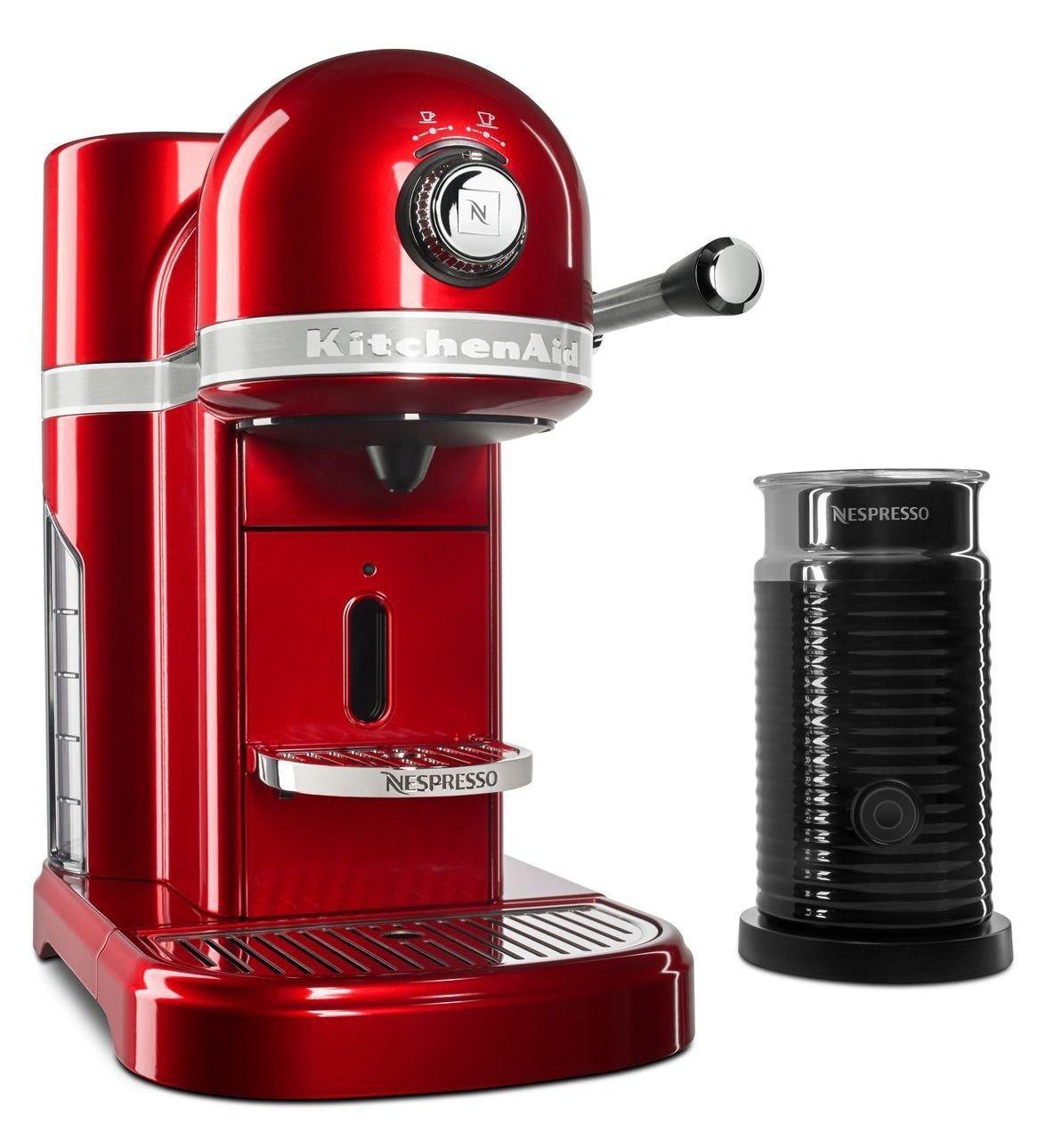 Apple Coffee Maker ~ Kitchenaid nespresso candy apple red espresso maker with