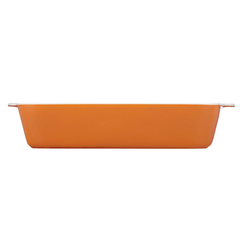 Dansk Mario Batali by Dansk 833723 Stoneware Lasagna Pan, 13 by 9-Inch, Persimmon