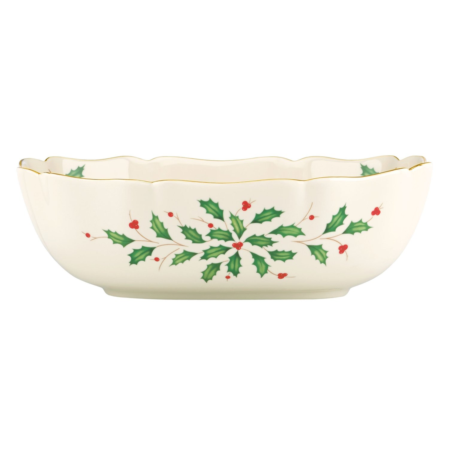 Lenox holiday large fluted bowl ebay