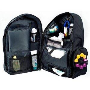 okkatots travel baby depot backpack bag black ebay. Black Bedroom Furniture Sets. Home Design Ideas