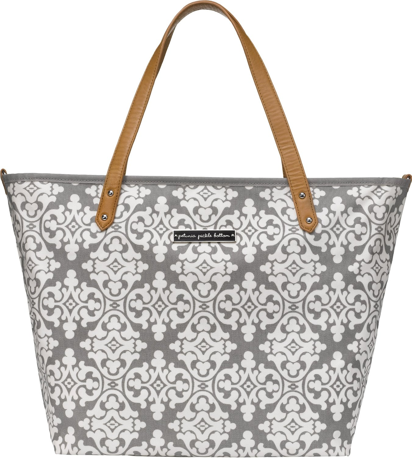 petunia pickle bottoms downtown tote breakfast in berkshire grey ebay. Black Bedroom Furniture Sets. Home Design Ideas