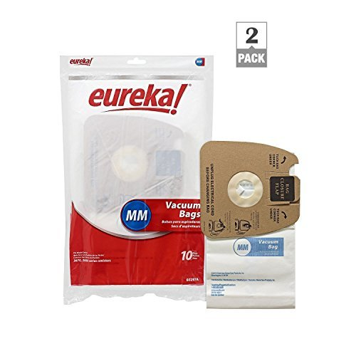 genuine eureka mm vacuum bag 60297a style 2 packs of 10
