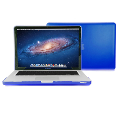 Blue-Rubberized-see-through-Macbook-Pro-Case-for-13-inches-Perfect-Fit