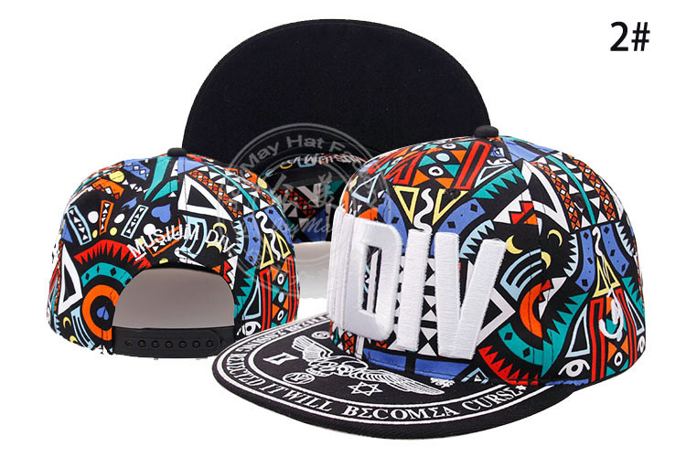 Hip Hop Embroidered MDIV Baseball Flat Peaked Adjustable Snapback Cap Hat Colors