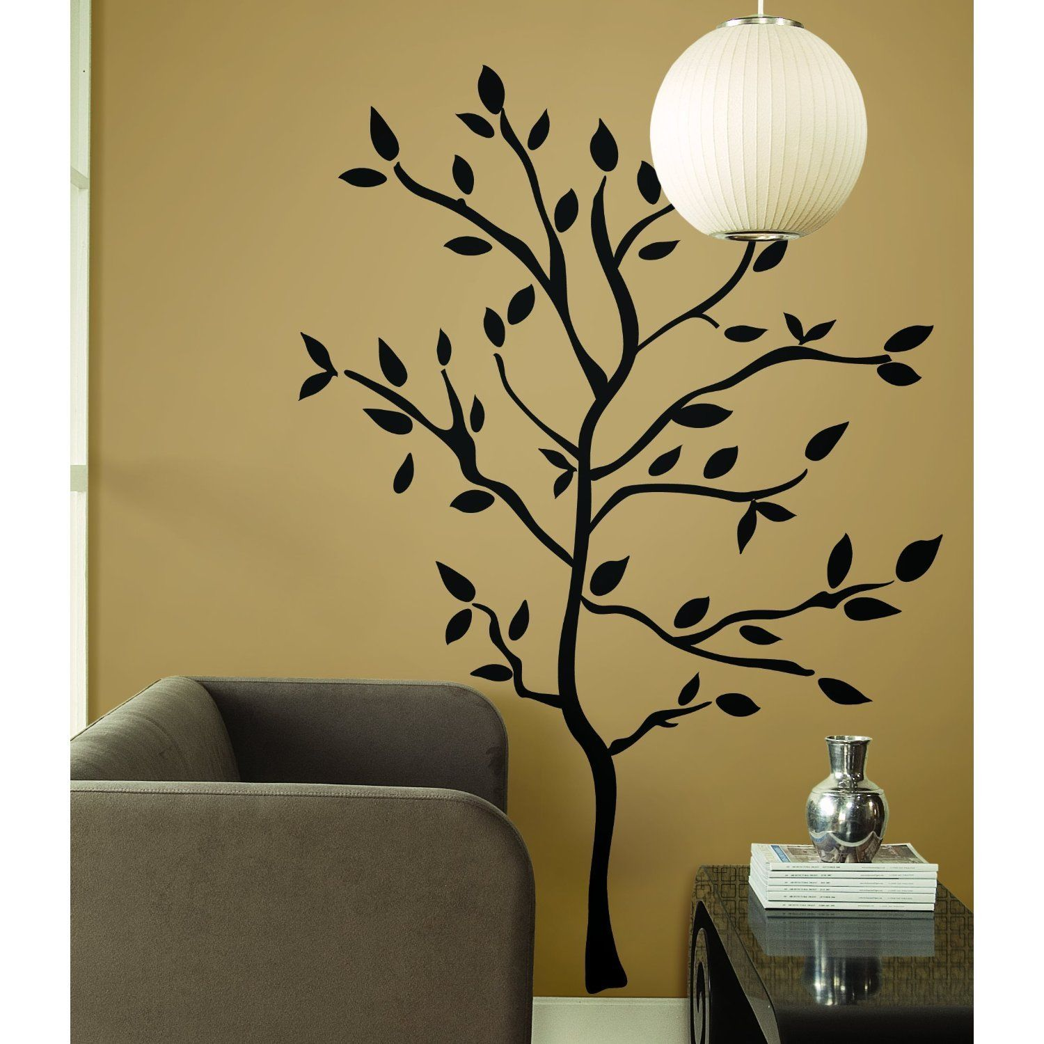 Black Tree Branch Western Engraving Room Sticker Vinyl