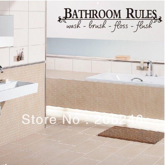 Quote black vinyl sticker bathroom toilet art wall decal decor ebay