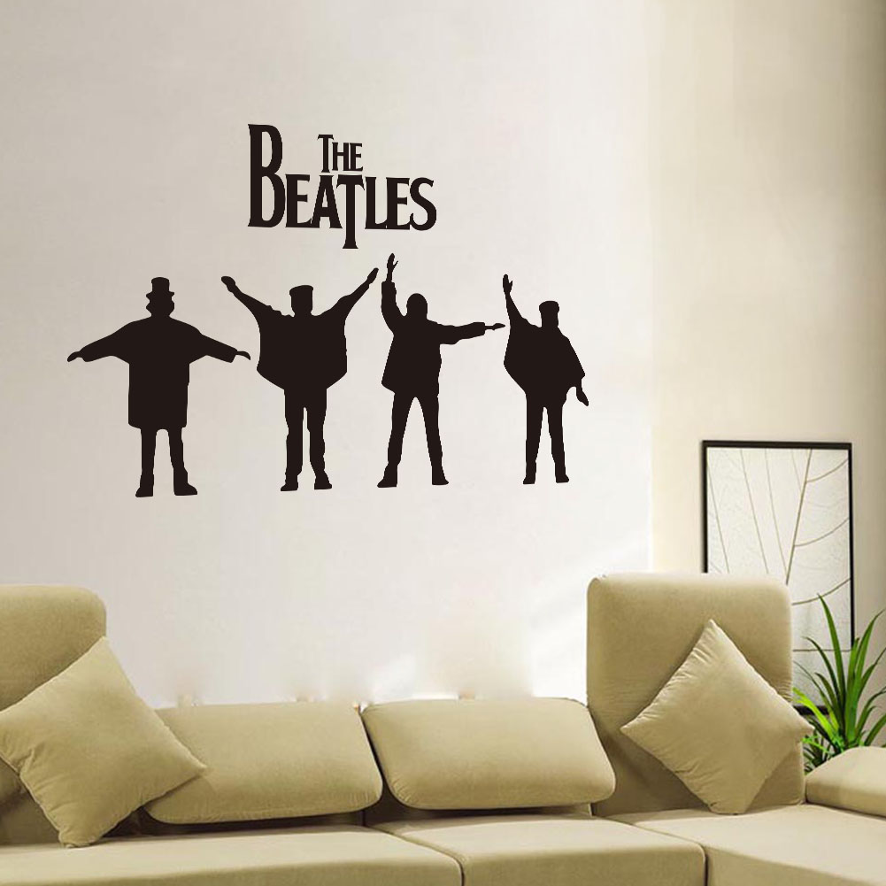 People the beatles removable vinyl decal art mural home for Beatles wall mural