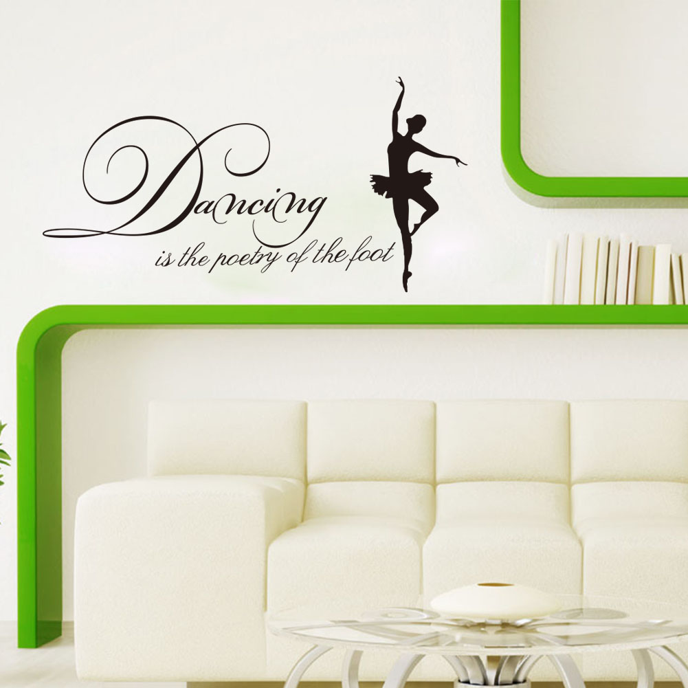 English Dancing Is The Poetry Removable Vinyl Art Mural ...