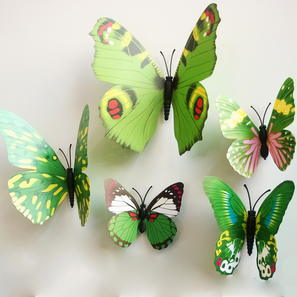 12 pcs 3d butterfly decal wall stickers art design home for 3d butterfly decoration