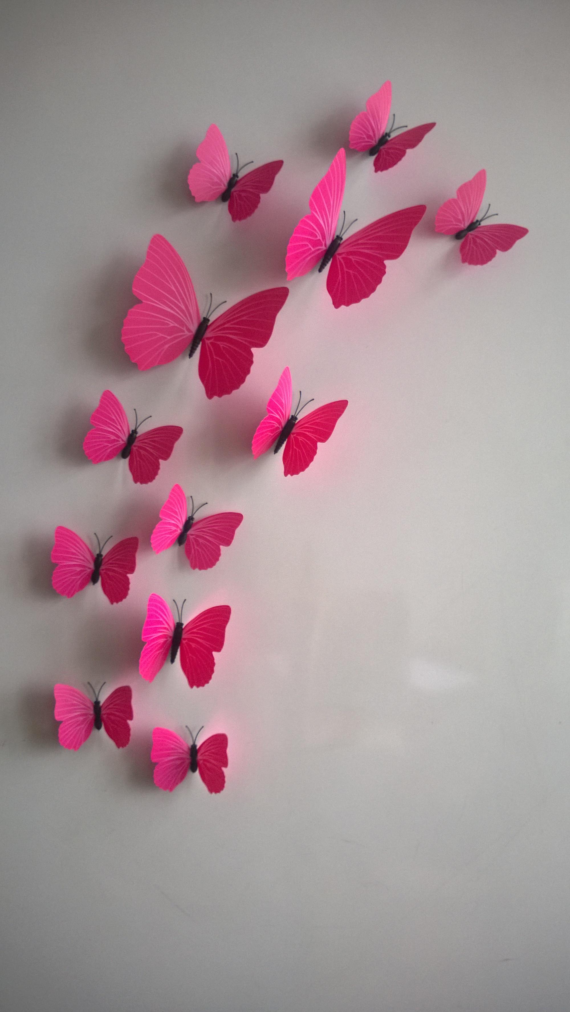 3D 12 Butterflies Vivid Lovely Mural Vinyl Decal Decor  Wall Sticker Sunhill