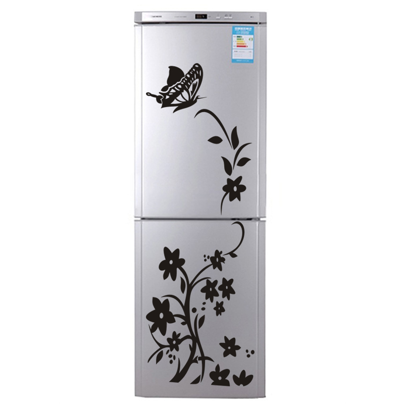 Butterfly Flower Vine Fridge Removable Mural PVC Decal Decor Wall Sticker DIY