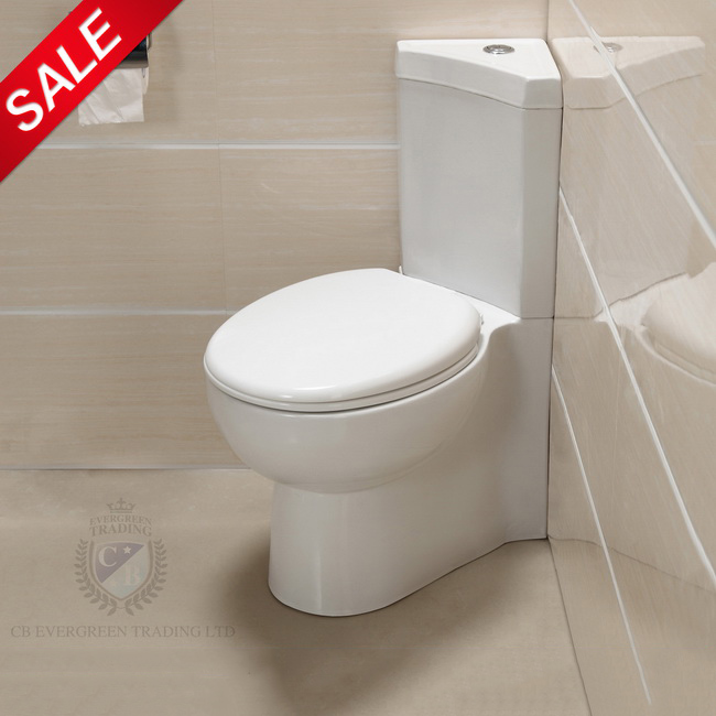 Close Coupled Corner Toilet Wc Dual Flush Cistern Soft