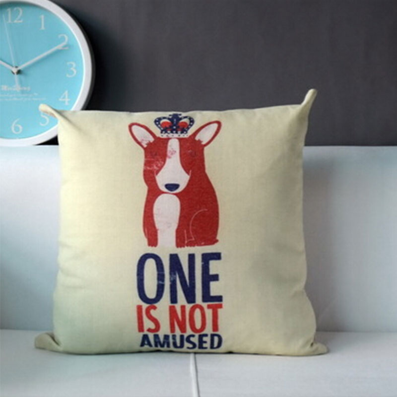 Ornate Animal Pillow Cover Giveaway : THROW SOFA DECORATIVE COTTON & LINEN PILLOW CASE CUSHION COVER CARTOON ANIMALS eBay
