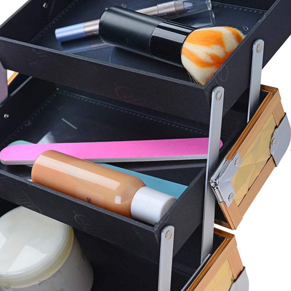 Makeup case with mirror
