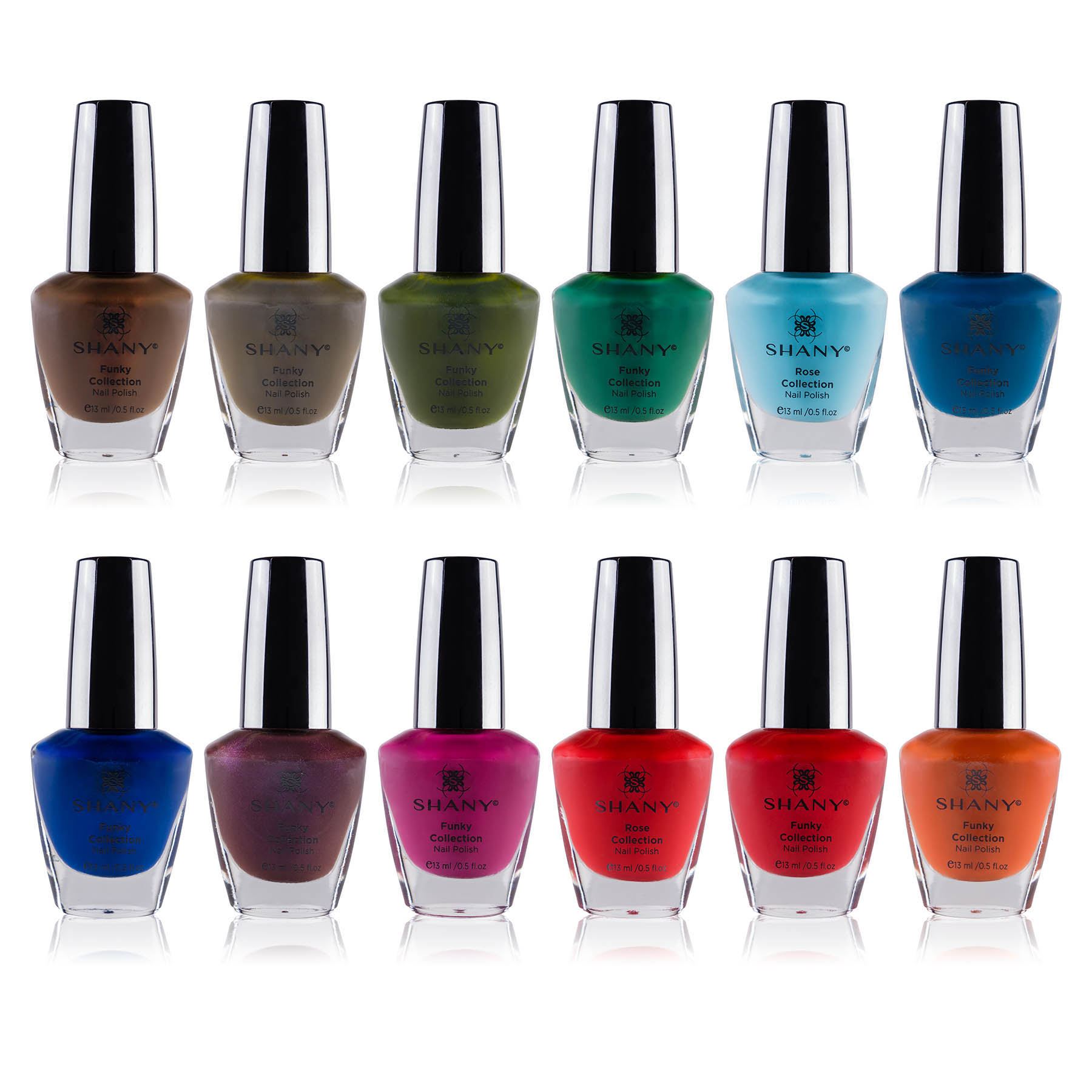 The SHANY Funky Collection Nail Polish Set - 12 Bold and Qui