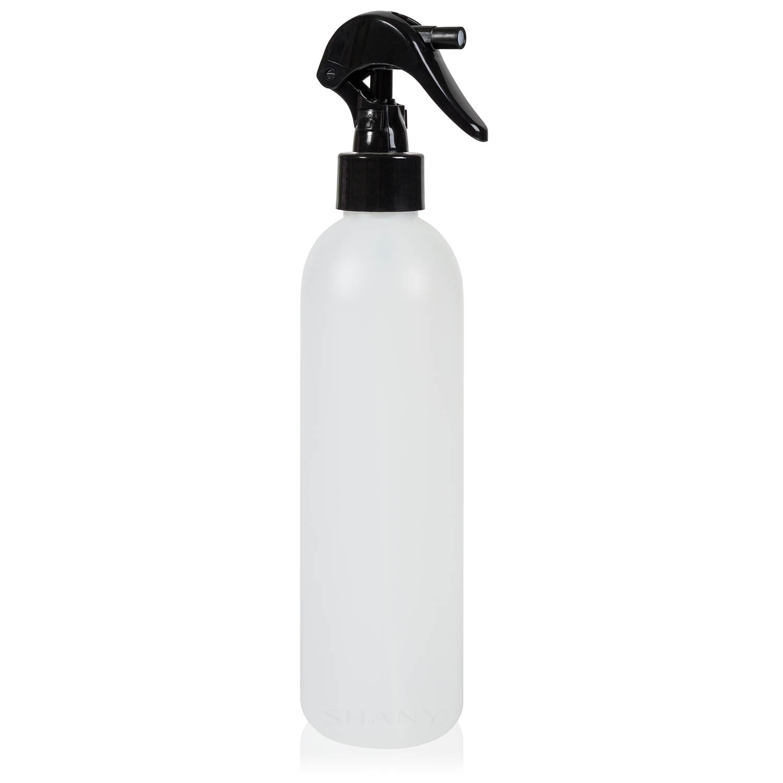 SHANY Plastic Bottle with Black Mini Trigger Sprayer - 8OZ