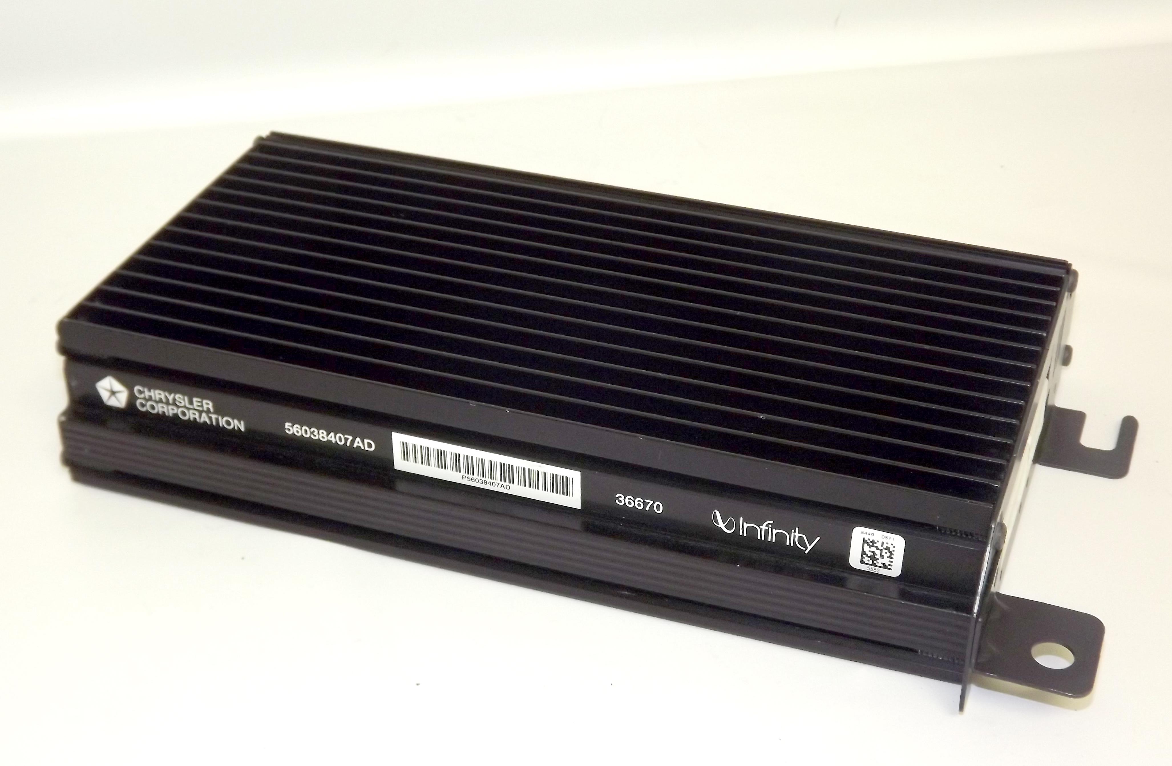 infinity amplifier. jeep grand cherokee infinity amp amplifier 1999-2002 oem chrysler pn 56038407ad - 1 factory radio