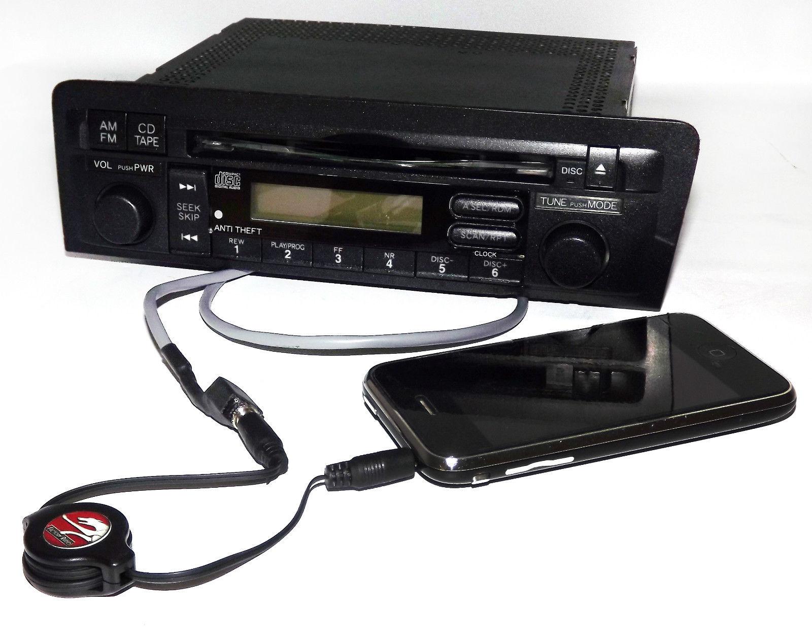 Honda Civic 2001 2003 Radio Am Fm Cd Aux Input W Code Part 39101 1988 Fuse Box S5a A610 M1 1 Factory