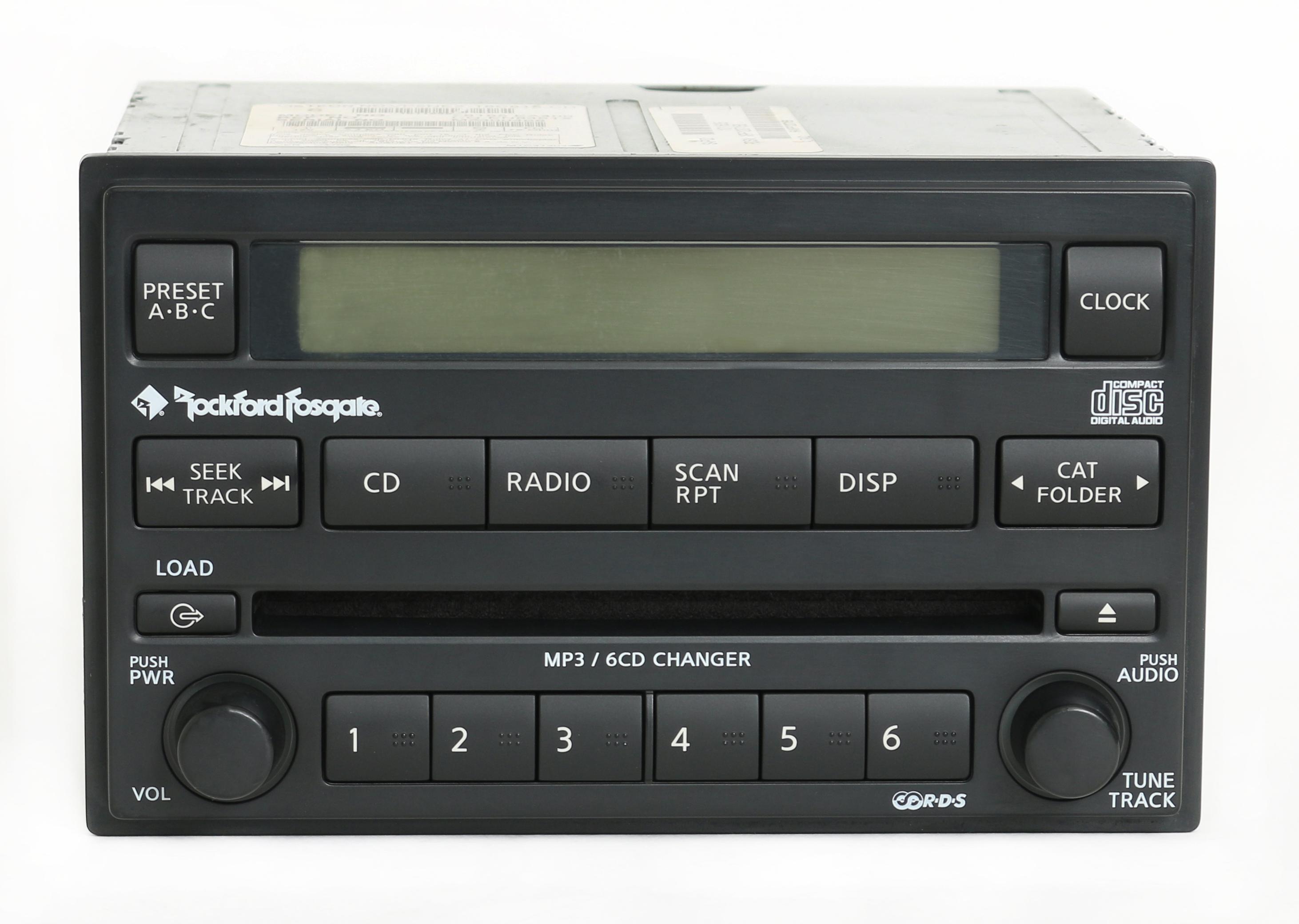 Nissan Xterra Frontier 2005 07 Rockford Fosgate Radio AM FM 6 Disc