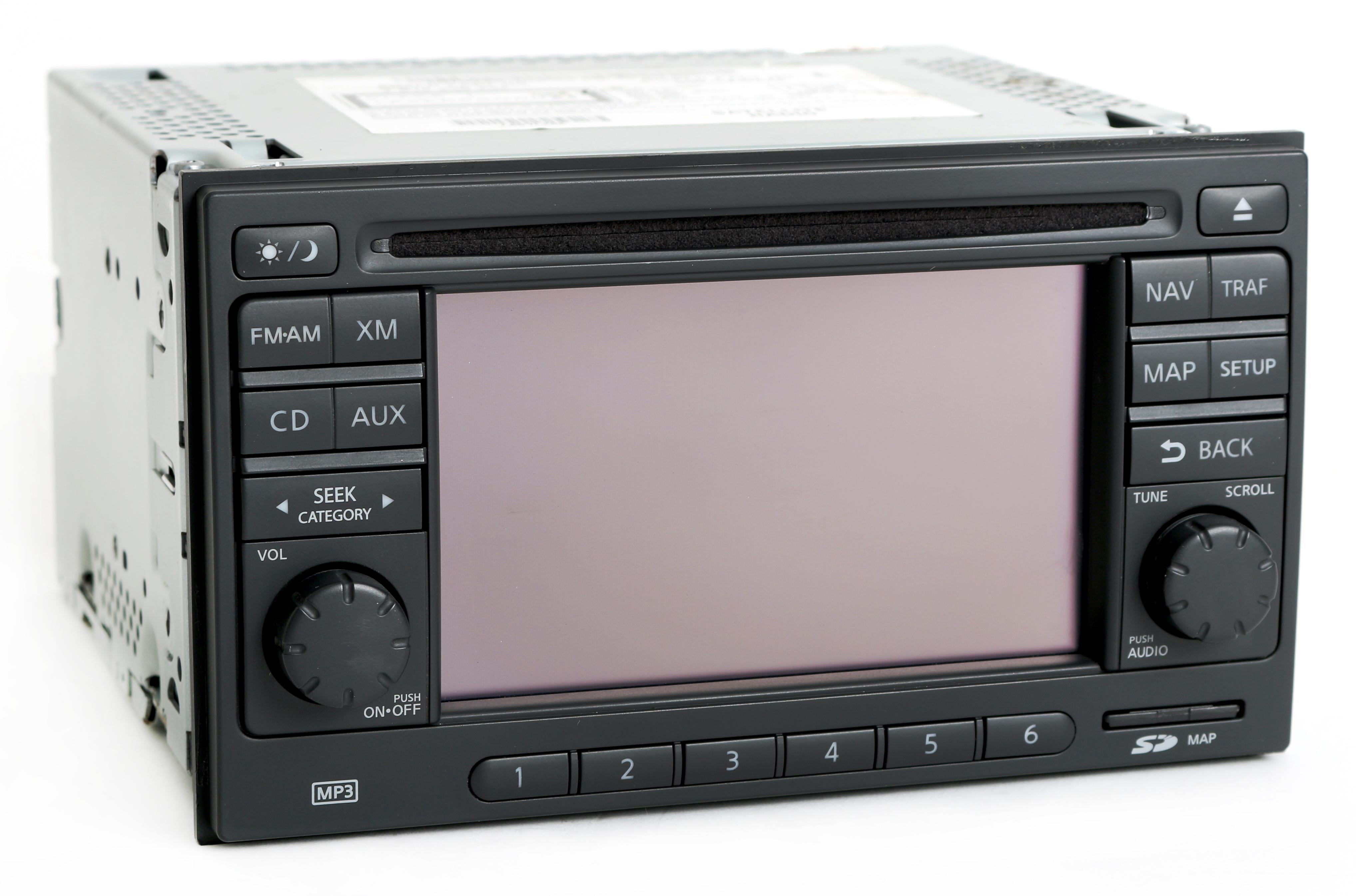 Nissan Versa 2012 Radio Am Fm Mp3 Cd Player W Navigation Part Number Rover Wiring Diagram 25915zw84a 1 Factory