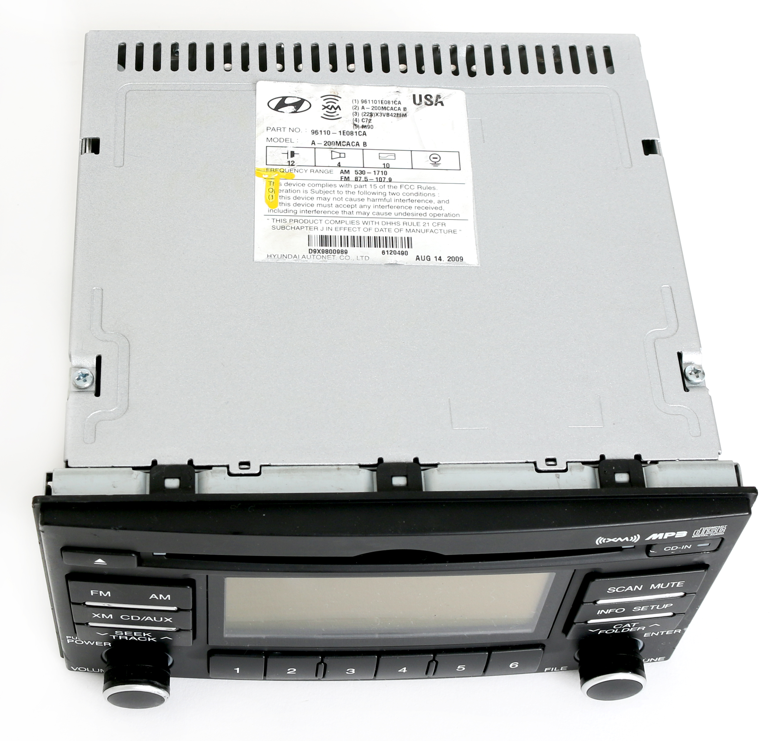 Hyundai Accent 2007 2011 Oem Radio Am Fm Mp3 Cd Player W Satellite 03 Wiring Diagram 96110 1e081ca 1 Factory