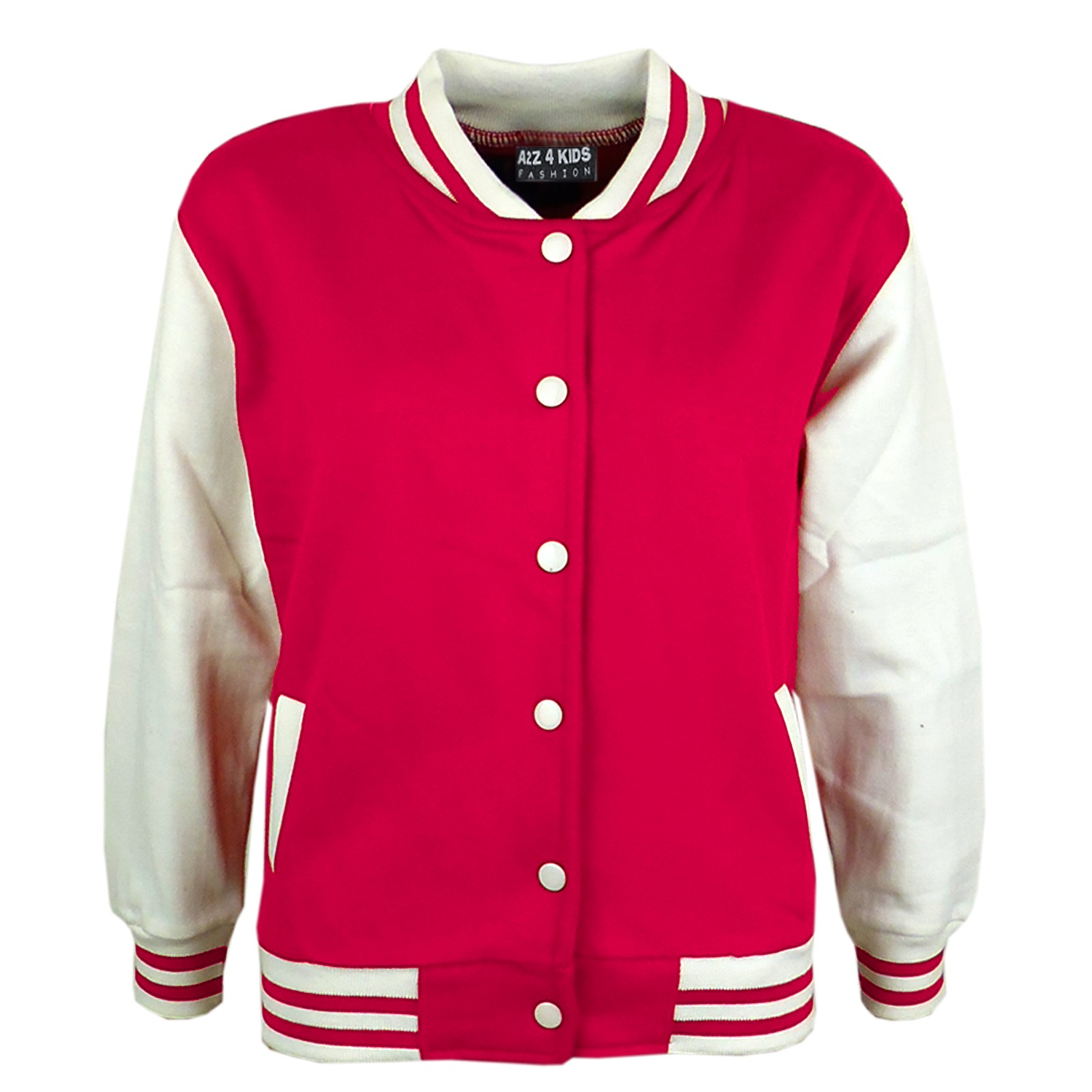 KIDS-GIRLS-BOYS-BASEBALL-JACKET-VARSITY-STYLE-PLAIN-SCHOOL-JACKETS-TOP-5-13-YEAR