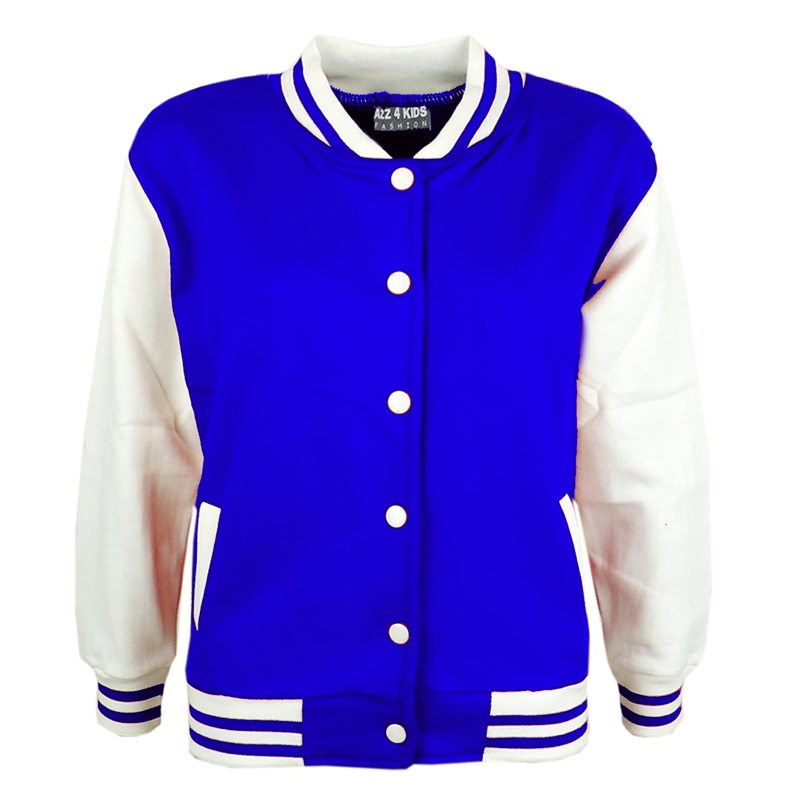 KIDS GIRLS BOYS BASEBALL JACKET VARSITY STYLE PLAIN SCHOOL JACKETS ...