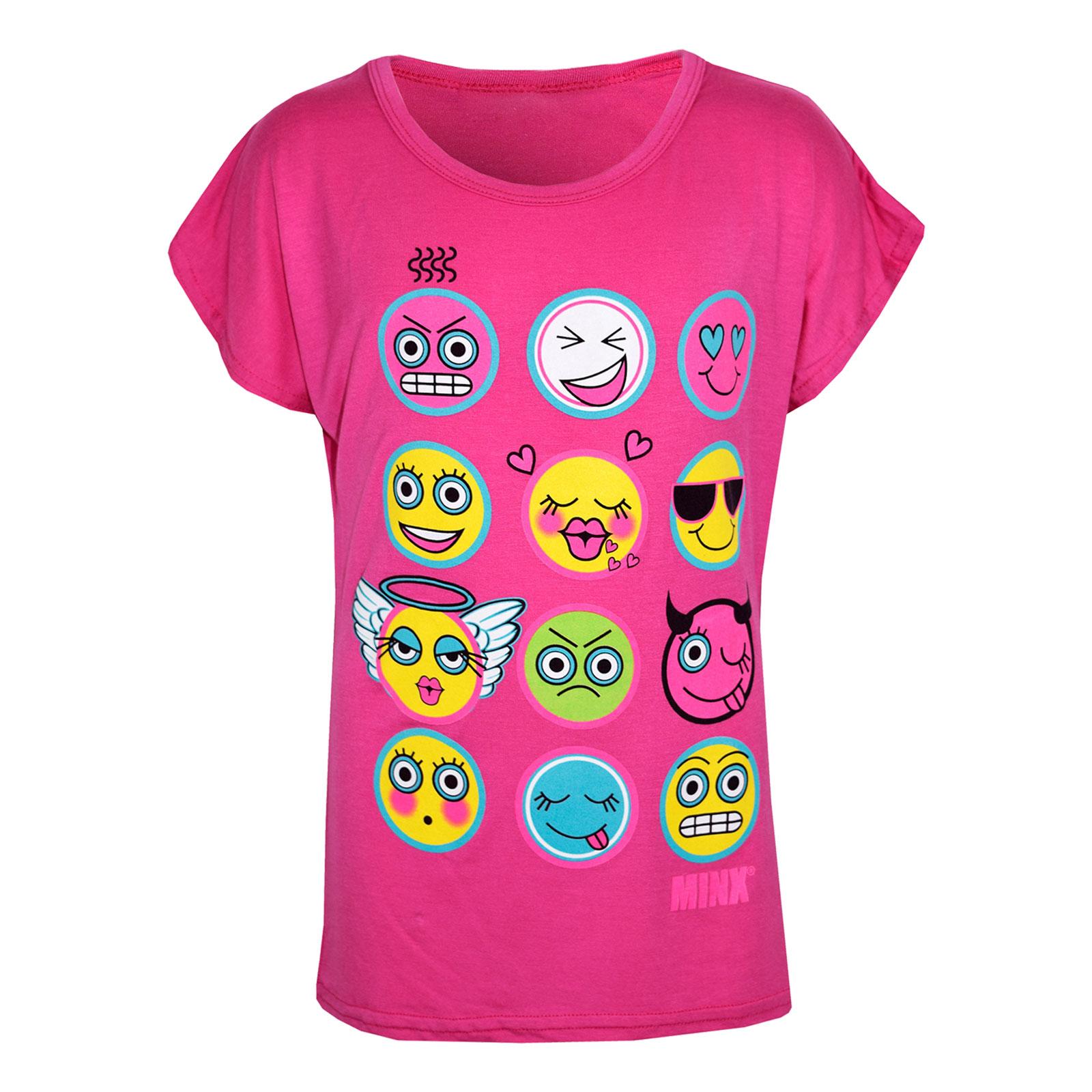 Kids Girls T Shirt Emoji Emotions Print Stylish Trendy ...