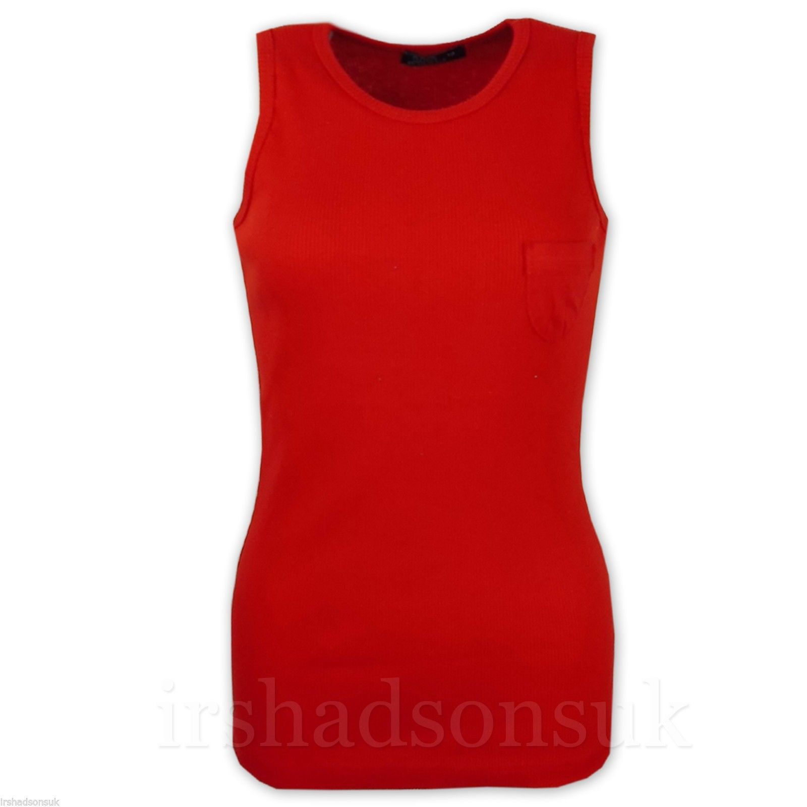 Girls-Ribbed-Vest-Top-100-Cotton-Summer-T-Shirt-Age-5-6-7-8-9-10-11-12-13-Years