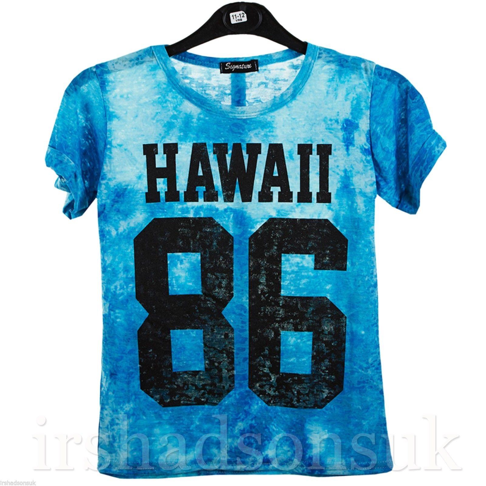 New girls tie dye hawaii new york love print stylish for T shirt printing hawaii